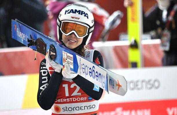 Juliane Seyfarth jäi MM-kisojen avauksessa 21:nneksi.