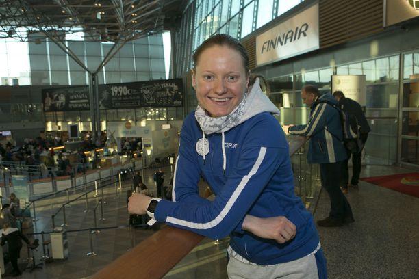 Johanna Matintalo on Suomen hiihtomaajoukkueen kuopus Pyeongchangissa.