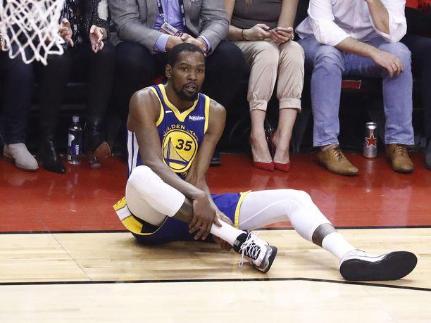 Kevin Durant loukkaantui pahasti menneen NBA-kauden finaaleissa.