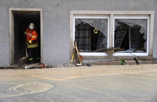 Braunsbachissa rakennukset ovat kärsineet pahoja vaurioita.