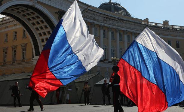 Patriotismi on vahvaa Venäjällä.