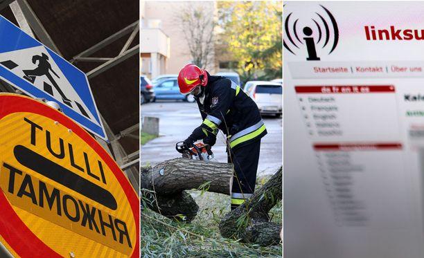 Muun muassa häiriöt rajaturvallisuudessa, luonnonmullistukset ja häiriöt tietoliikenteessä voivat uhata Suomea. Kuvituskuva.