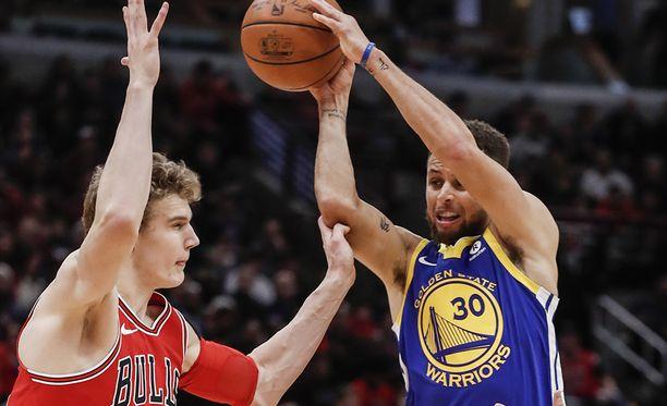 Lauri Markkanen sai tähdistöääniä pelaajilta ja faneilta. Takamies Stephen Curry pääsee kipparoimaan Team Currya.