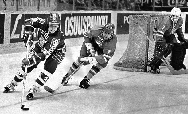 Ilkka Sinisalo maajoukkuepaidassa joulukuussa 1980.