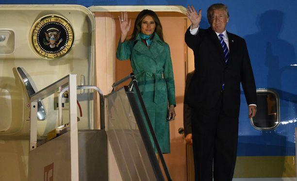 Presidenttipari saapui Puolaan keskiviikkona.