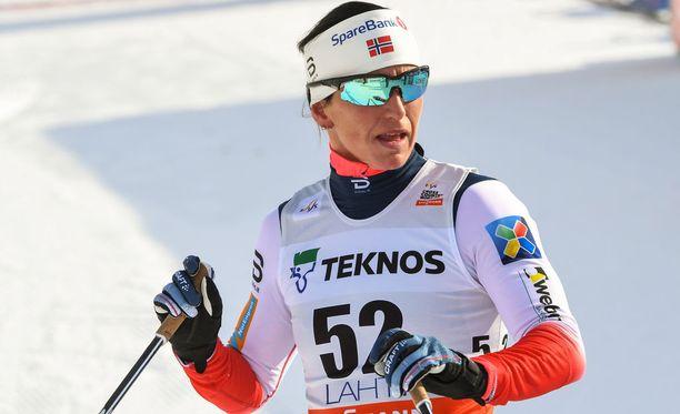 Marit Björgen pääsi pitkästä aikaa sprintissä palkintopallille.