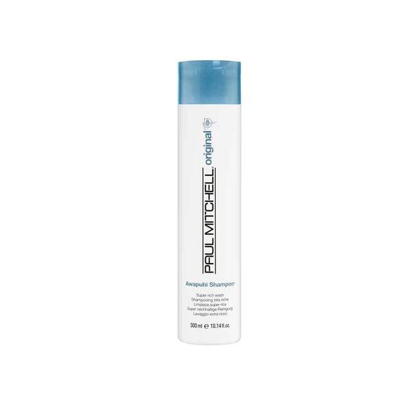Hoitavan, kosteuttavan shampoon ansiosta et välttämättä edes tarvitse perinteistä hoitoainetta. Paul Mitchellin kehuttu Awapuhi-shampoo lupaa tuuheuttaa hentoistakin tukkaa, 24,90 e.