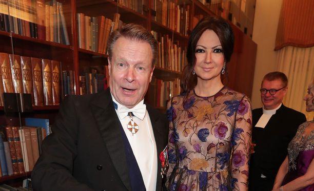 Ilkka Kanerva ja Elina Kiikko ovat Linnan juhlien vakiokasvoja.
