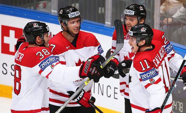 Kanada on marssi MM-finaaliin USA:n kustannuksella.