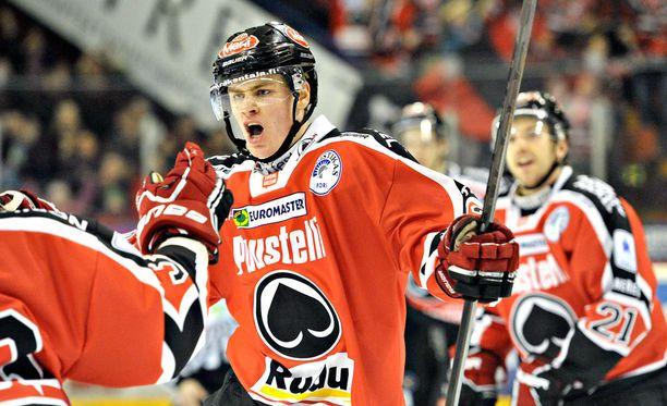 Daniel Brodin oli kiinteä osa Ässien mestarijoukkuetta 2013.