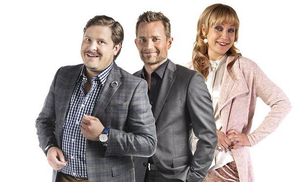 Janne Kataja, Lenni-Kalle Taipale ja Niina Lahtinen nähdään uudistetun Napakymppi-studion vakiokasvoina.