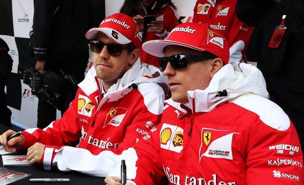 Sebastian Vettel ja Kimi Räikkönen valmistautuvat Itävallan osakilpailuun.