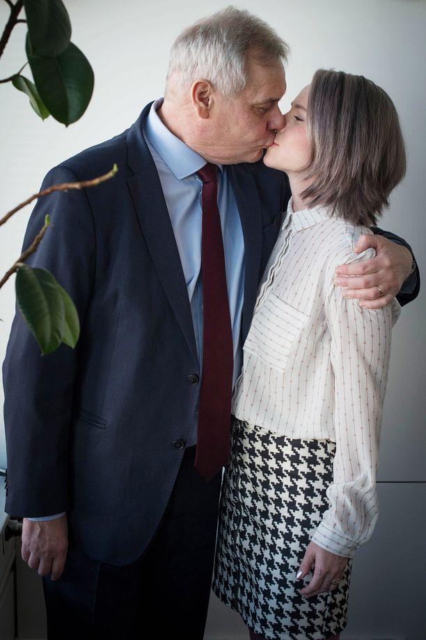 Antti Rinne ja Heta Ravolainen-Rinne ovat saaneet sairastumisen myötä myös kauan kaivattua yhteistä aikaa.