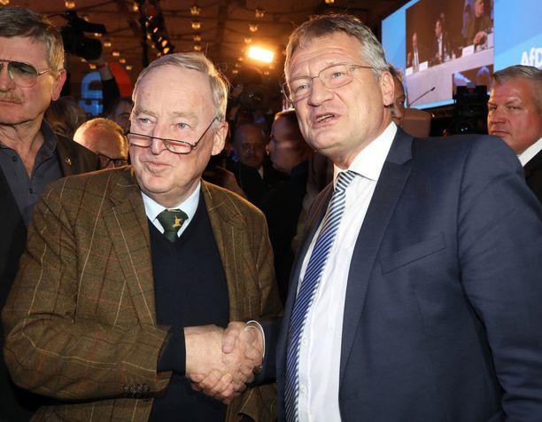 AfD- eli Vaihtoehto Saksalle -puolue valitsi kahdeksi puheenjohtajakseen Alexander Gaulandin ja Jörg Meuthenin.