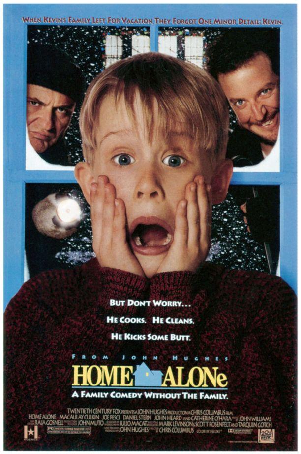 Kevinillä on sama ilme Yksin kotona -elokuvan kansikuvassa.