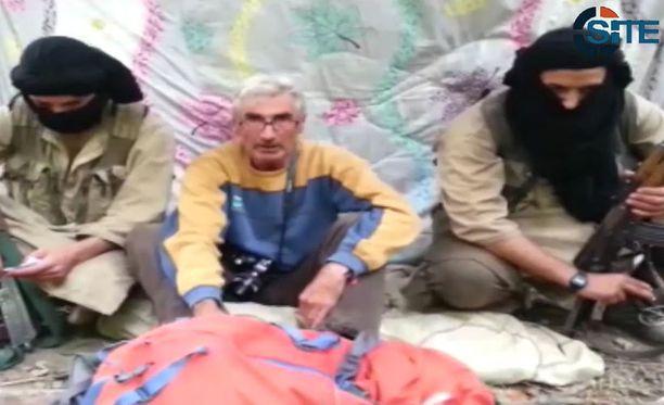 Kalifaatin sotilaat julkaisivat kidnapatusta ranskalaisturistista videon. Video on vahvistettu aidoksi.