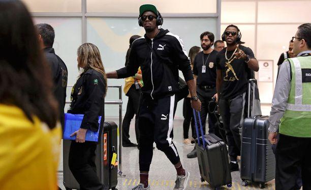 Usain Bolt on saapunut Rion olympiamaisemiin.
