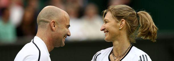 Andre Agassi ja Steffi Graf ovat olleet onnellisesti naimisissa lähes kymmenen vuotta.
