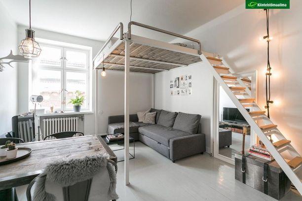 Parvi auttaa käyttämään kodin huonekorkeuden hyväksi. Parhaimmillaan parvi on kuin asunnon toinen kerros. Sen alle taas voi luoda tunnelmallisia sopukoita.