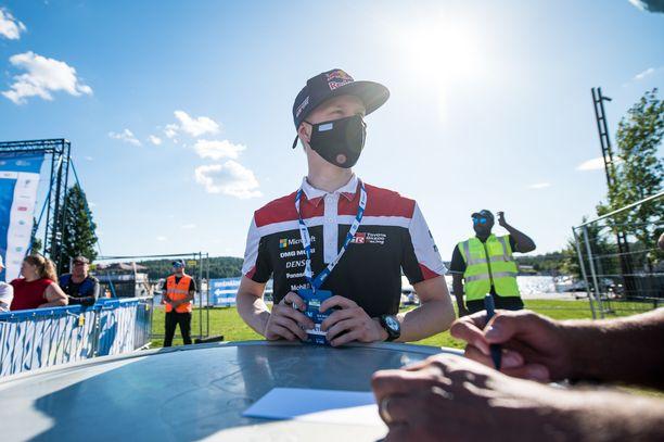 Kalle Rovanperä väläytti Viron-vauhtiaan jo elokuun lopun testikisassa, jossa hän ajoi hienosti toiseksi.