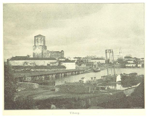 Viipurin linna vuonna 1894 otetussa valokuvassa.