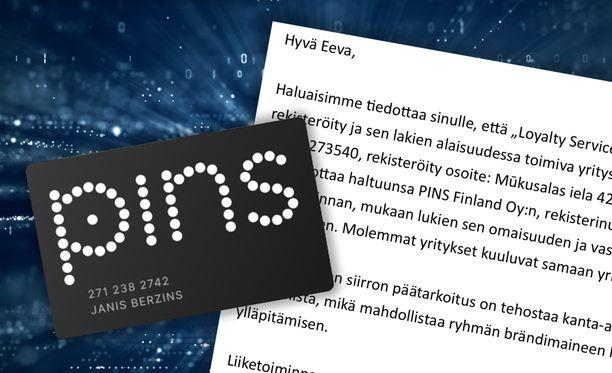 Pins-viesti on lähetetty Pins-tilin omistaville.
