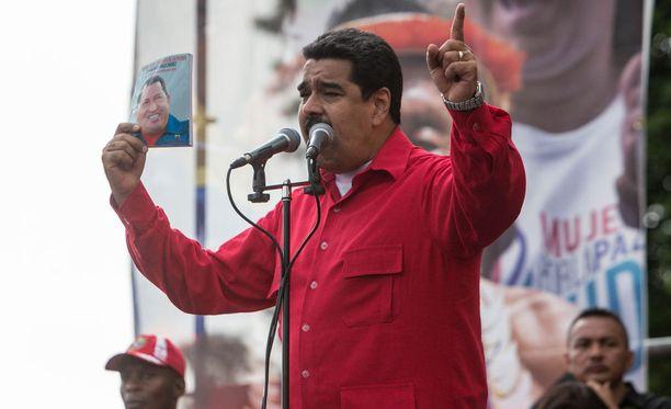 Venezuelan presidentti Nicolas Maduro puhui kansalle viime viikolla.