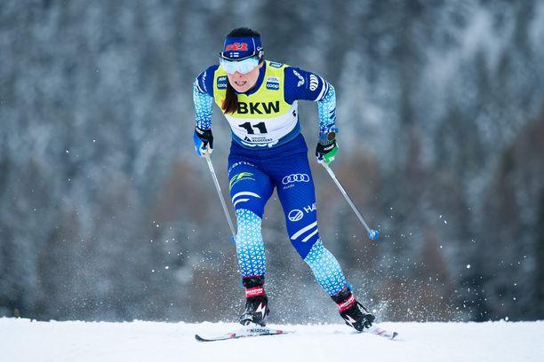 Krista Pärmäkoski kilpaili viimeksi joulukuun puolessavälissä Sveitsin Davosissa.