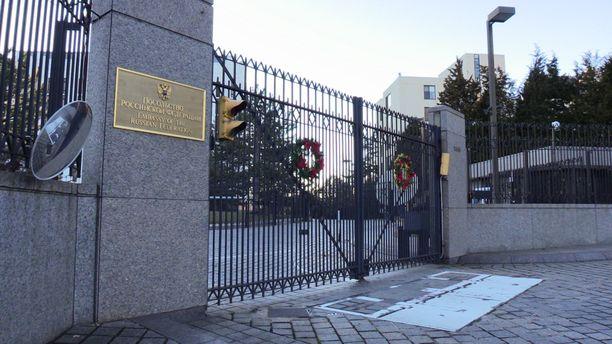 Venäjän suurlähetystö Washingtonissa. Kuvituskuva.