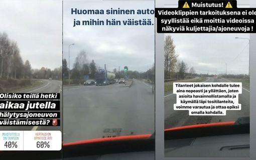 Pelastuslaitos julkaisi opettavan videon – näin autoilijat väistävät hälytysajoneuvoa