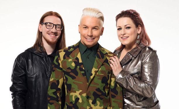 Idols-tuomaristo Jurek Reunamäki, Antti Tuisku ja Erin ovat kriittisinä.