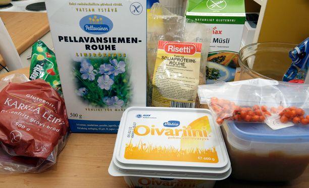 Keliaakikko noudattaa gluteenitonta ruokavaliota.