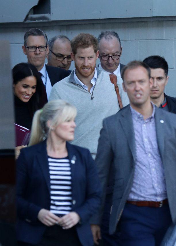 Kuninkaallinen pariskunta kuvattuna Sydneyssä heti saapumisen jälkeen.