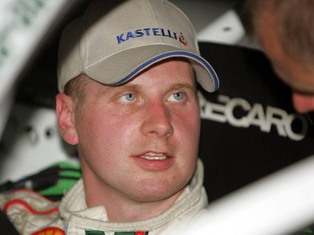 Janne Tuohino ajoi kauden 2005 Skodan WRC-tehdastallissa.