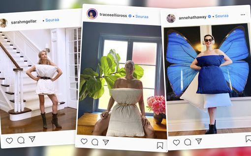 Anne Hathaway ja Halle Berry vaihtoivat vaatteet tyynyihin – upeat kuvat