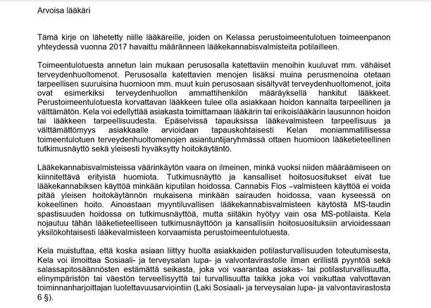 Iltalehti pyysi Kelan lähettämän kirjeen näytille.