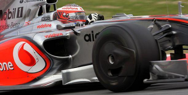 McLarenin testivauhti on ollut Espanjassa laimeaa.