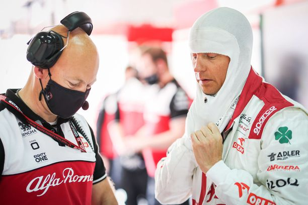 Kimi Räikkönen ei päässyt Q1:stä jatkoon lauantaina.