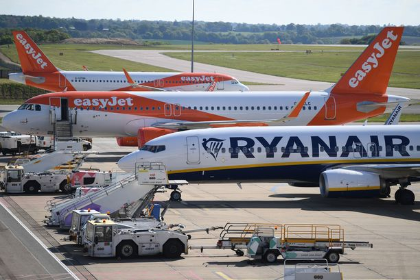 Ryanairin koneet ovat olleet pysäköityneinä Euroopan lentokentille.