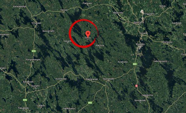 Onnettomuus tapahtui Tervossa Pohjois-Savossa.