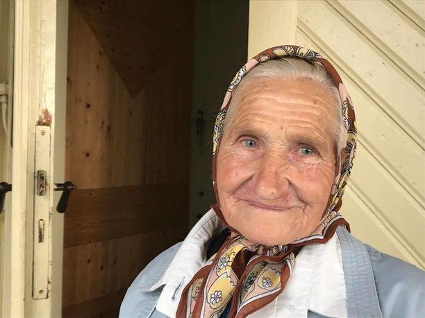 85-vuotias Maria Podhajska muutti Liettuaan Valko-Venäjältä vuonna 1974.