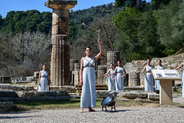 Olympiatuli sytytettiin viime torstaina Olympian kaupungissa Kreikassa.