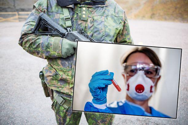 Terveydenhuollon suojavarustetilanteesta on puhuttu viime päivinä laajasti. Puolustusvoimat pyrkii ratkaisemaan ongelman.
