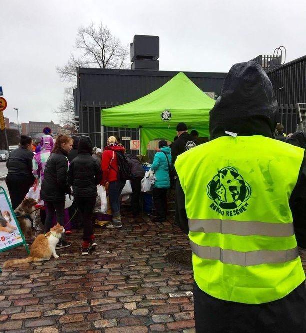 Tapahtuman taustalla on Rekku Rescue -eläinsuojeluyhdistys.