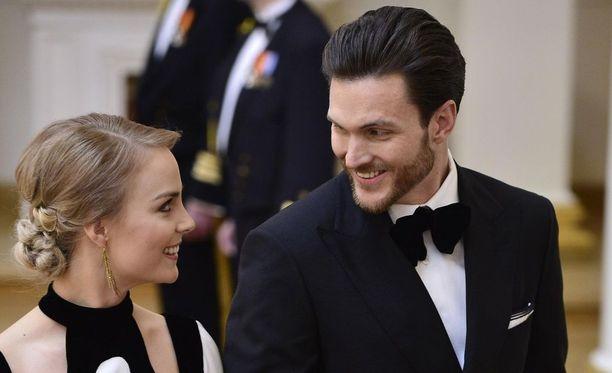 Kiira ja Arthur nähtiin Linnan juhlissa vuonna 2016.