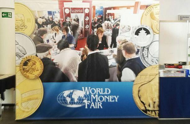 Berliinissä joka vuosi järjestettävät World Money Fair -rahamessut ovat yksi alan suurimpia tapahtumia.
