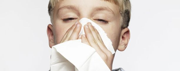 Home- ja kosteusaltistus suurentavat lapsen todennäköisyyttä sairastua allergiseen nuhaan.