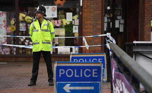 Poliisi eristi sunnuntai-iltana Salisburyn keskustassa vilkkaan kadun ja ravintolan, jossa kaksi asiakasta sairastui äkillisesti. Kuva maaliskuulta Salisburysta.