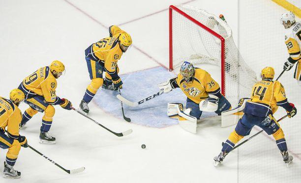 Pekka Rinne on Predatorsin tuki, turva ja tärkein pelaaja.