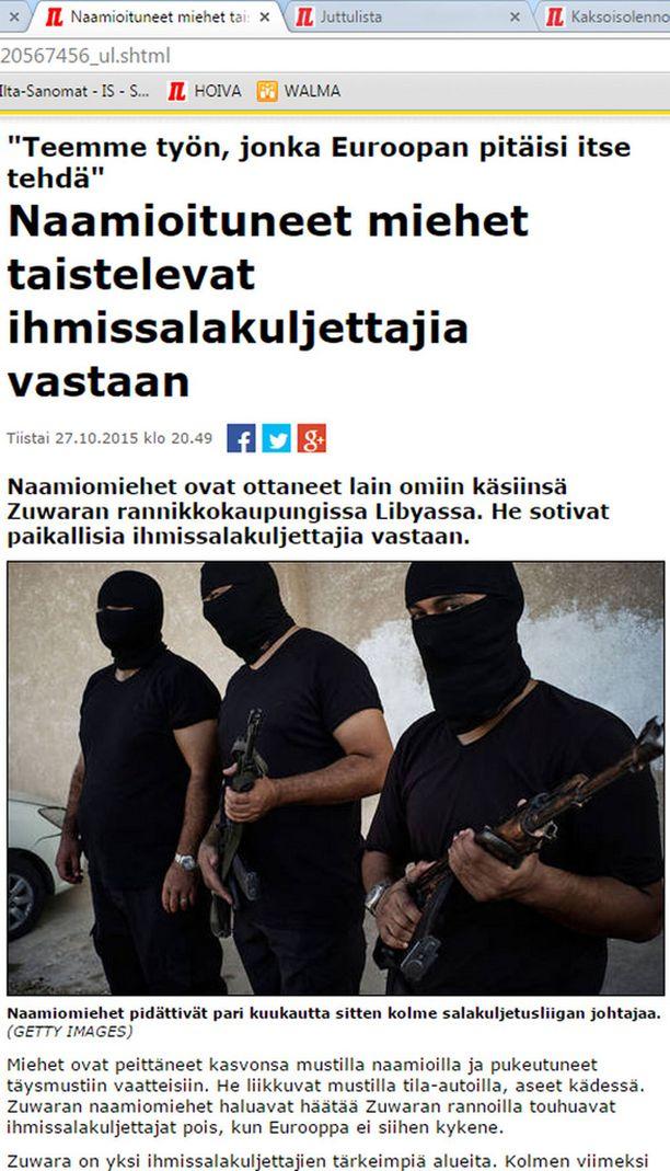 Suomalaisasiantuntijat pitävät mahdollisena, että kuvassa näkyvällä libyalaistaistelijalla on suomalainen RK62- rynnäkkökivääri.